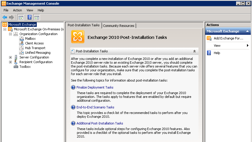 Update Rollup 6 – Exchange Server 2010 Service Pack 3